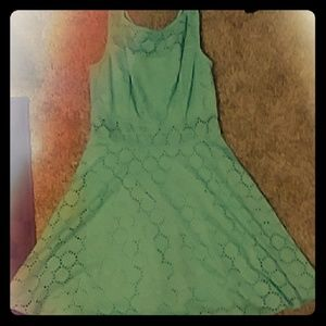 A beautiful sea green casual dress